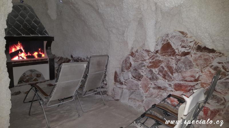malá solná jeskyně, přední část